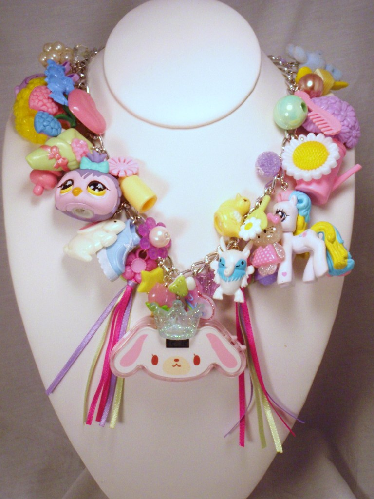 Fairy Kei Fantasy Pastel Princess Charm Necklace by PoniesOfDOOOM