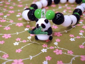Panda Glass charm necklace
