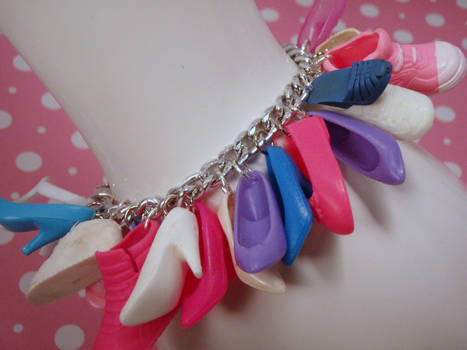 Shoe Mad Pink Blue Purple Charm Bracelet