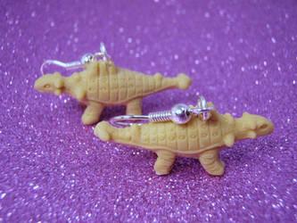 Ankylosaurus earrings