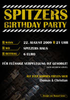 Birthday Party Metal Flyer