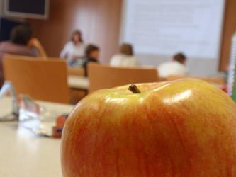 An apple a day by mangei