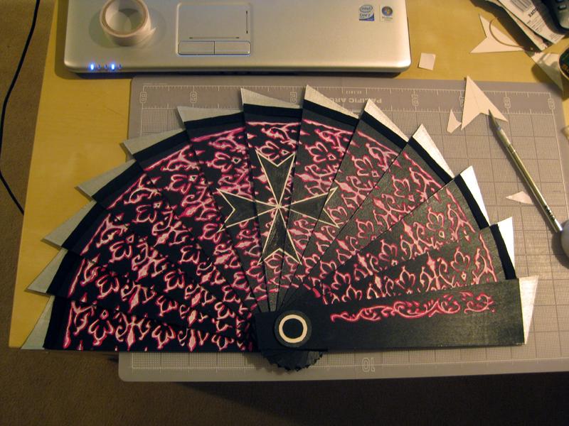 Bladed Fan Weapon : Courtesan fan wip by tasukigirl on deviantart