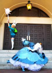Fionna Vs. Ice Queen by tasukigirl