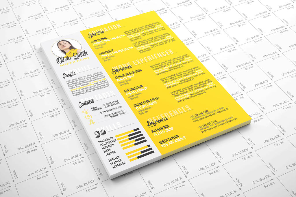 yellow resume by gfsolutions on deviantart