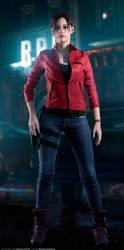 Claire Redfield - RE2 REMAKE (Full-body Render) by FrankAlcantara