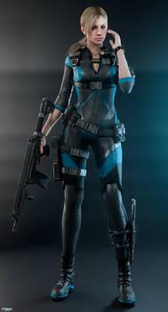 Jill Valentine - Revelations (Full-body render)