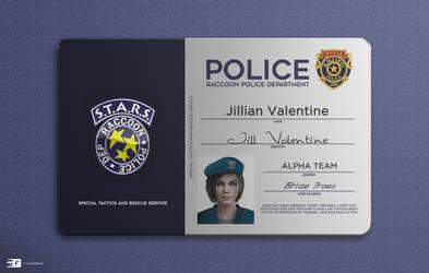 RPD Officer Card - Jill Valentine 2020 Mockup