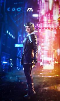 Jill Valentine - CyberPunk