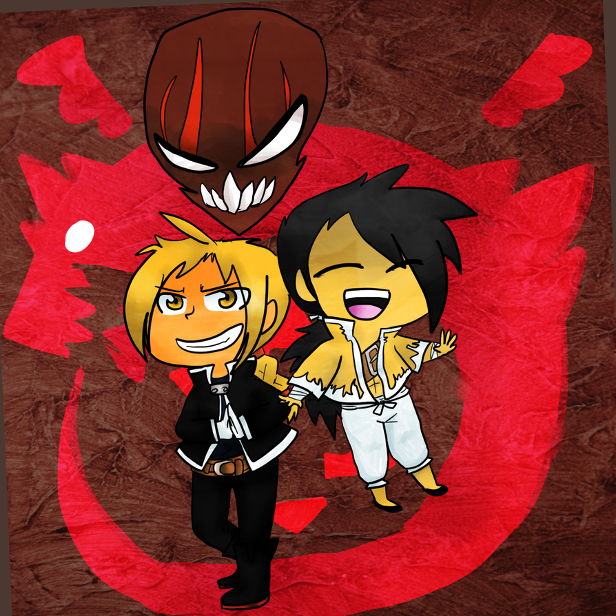 Edward Elric, Greed, and Ling Yao by CaptainNightSky