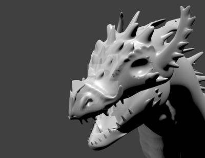 DRAGON HEAD.blend by Pathious