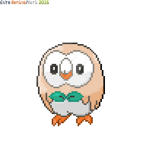Rowlet Pixel Art by EliteReticle
