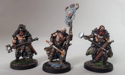 Blood Rage, Bear Clan Figures