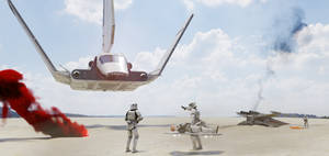 Star Wars Imperial medevac, animation WIP by jeandiz
