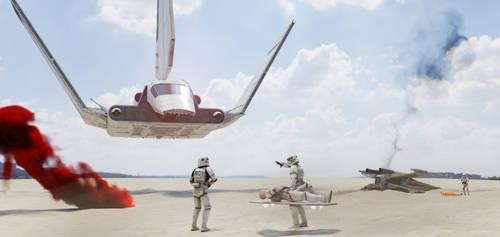 Star Wars Imperial medevac, animation WIP