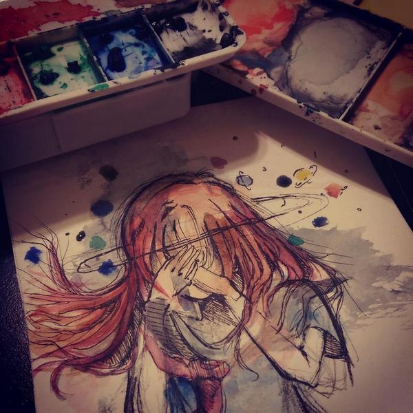 Watercolor by pinaizee