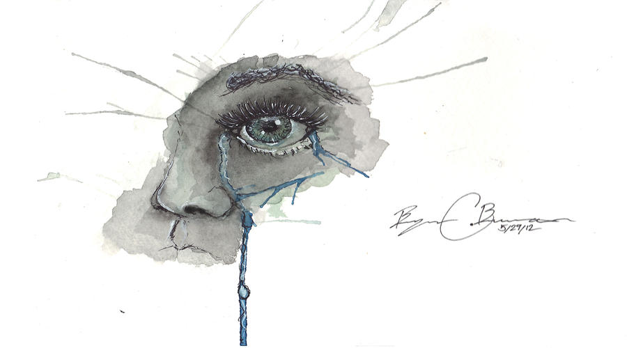 Eyes Crying Painting Crying Eye by