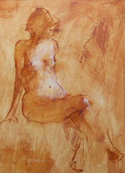 Quick Pose oil study 1 by JoeyBee60