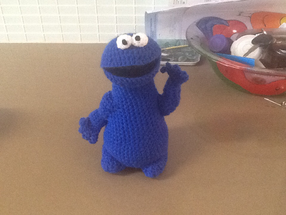 Amigurumi Cookie Monster Free Pattern : Cookie Monster crochet from Vogart Pattern 1970s by ...