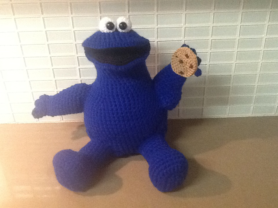 Amigurumi Cookie Monster Pattern : Cookie Monster crochet by Dianaleaver on DeviantArt