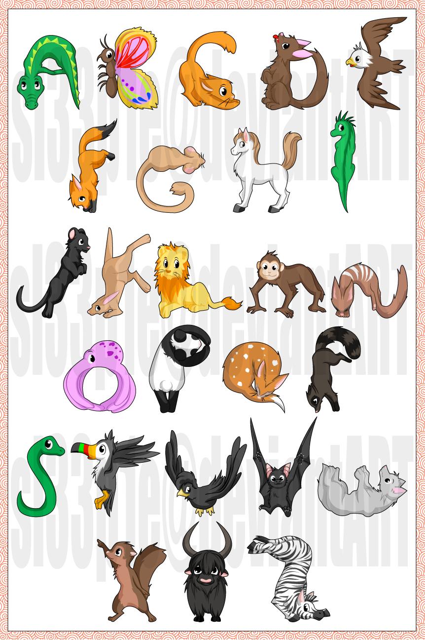 vector animal alphabet by sl33p1e digital art vector animals 2007 2015 o2k38vQP