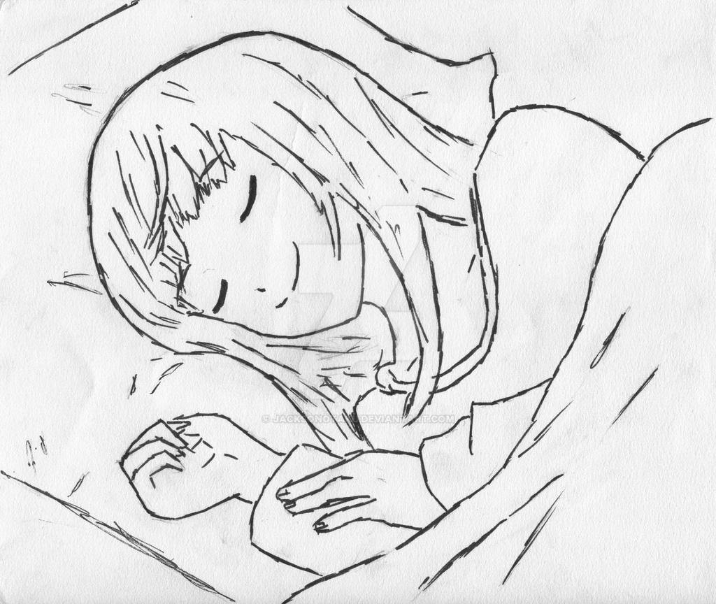 Drawings Of Anime Girls Sleeping In Bed