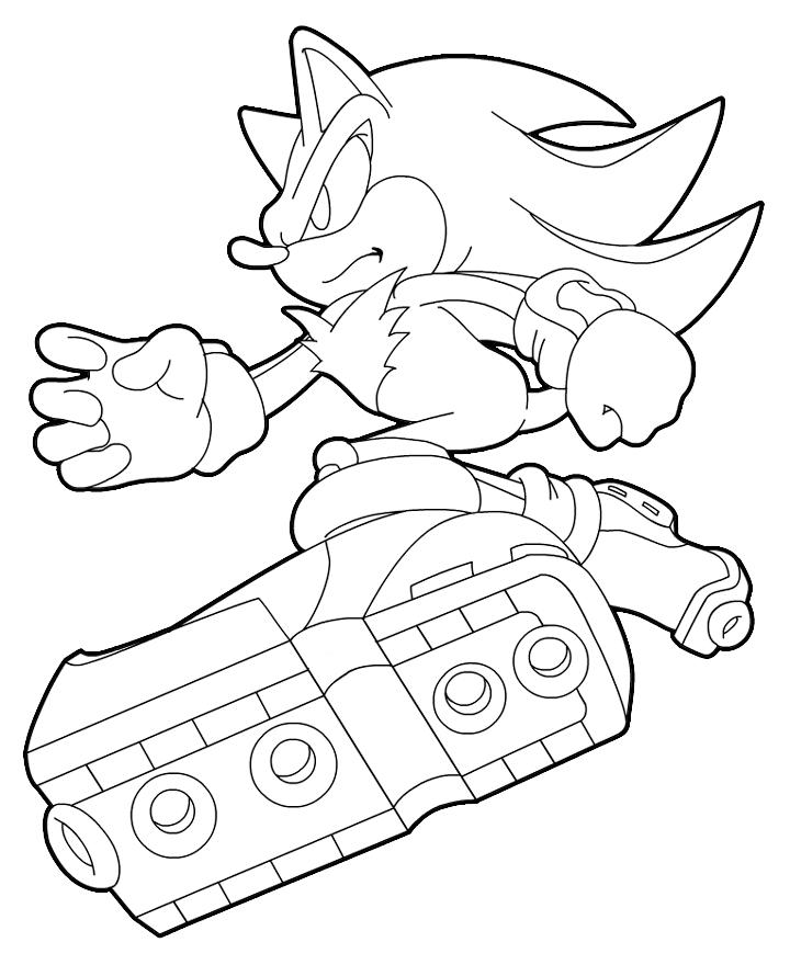 Desenhos do sonic para colorir qdb Coloring book wiki