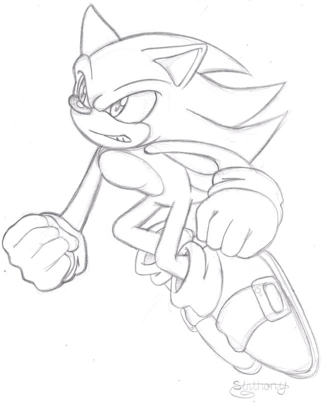 Super Sonic Sketch By Pendulonium On Deviantart