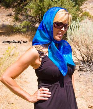 Nicole wearing a beautiful scarf