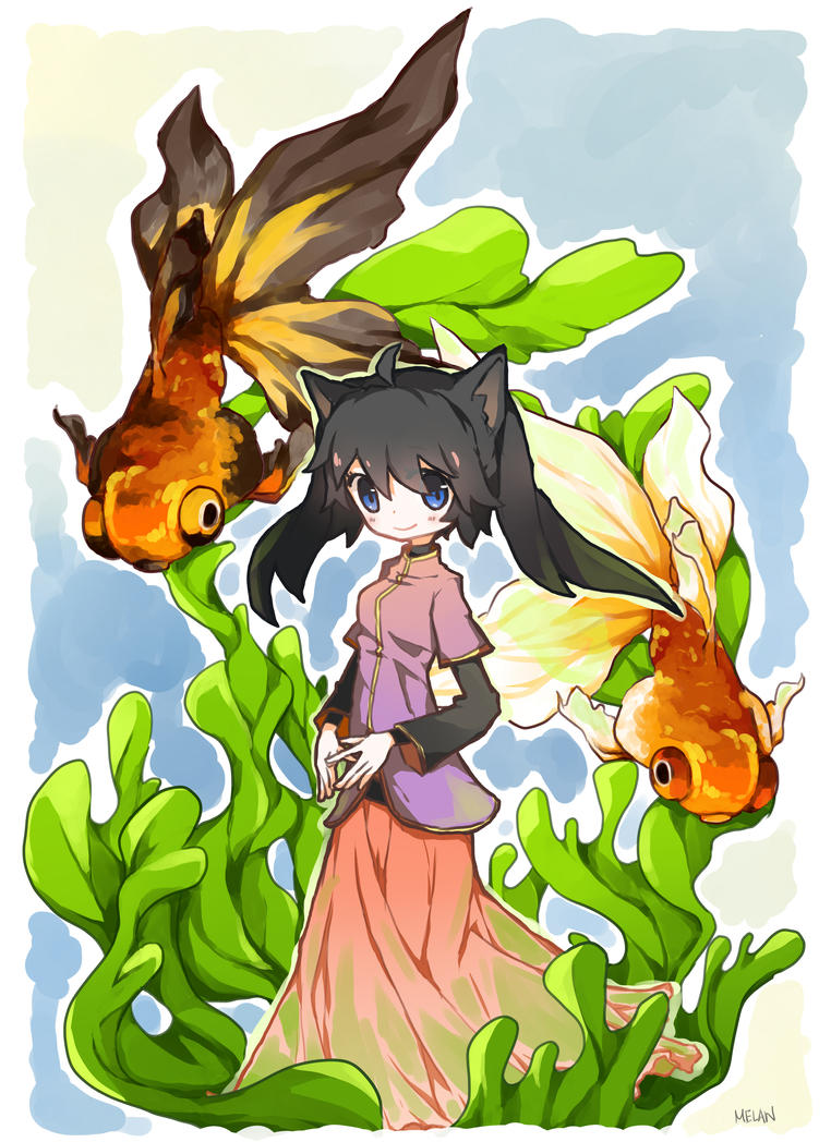 Melan + Goldfish by watermelan