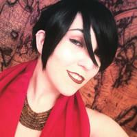 Morrigan wig, make-up test by LocalxSavior