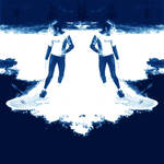 Midnight Twin Surfers Snacking by Rangutan