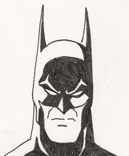 Batman Pen Sketch 3 By Faust40 On Deviantart