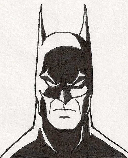 Batman Pen Sketch 4 By Faust40 On DeviantArt