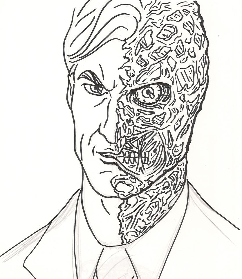 Harvey dent the dark knight by faust40 on deviantart for Dark knight coloring pages