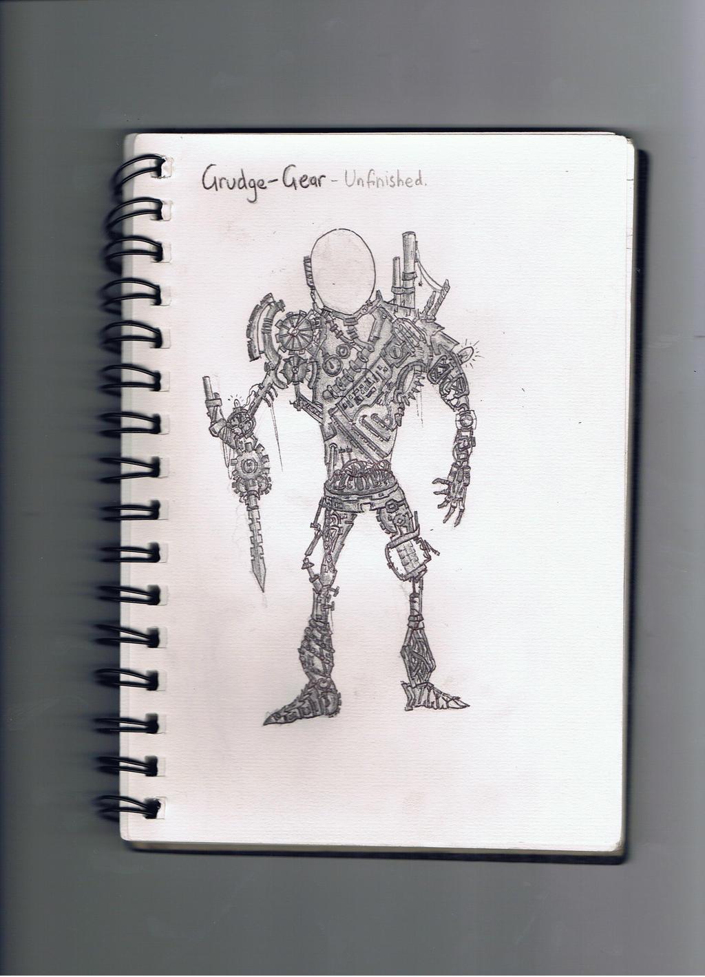 SketchBook Drawings 6- Steampunk Grudge Robot by Pyrovilekiller