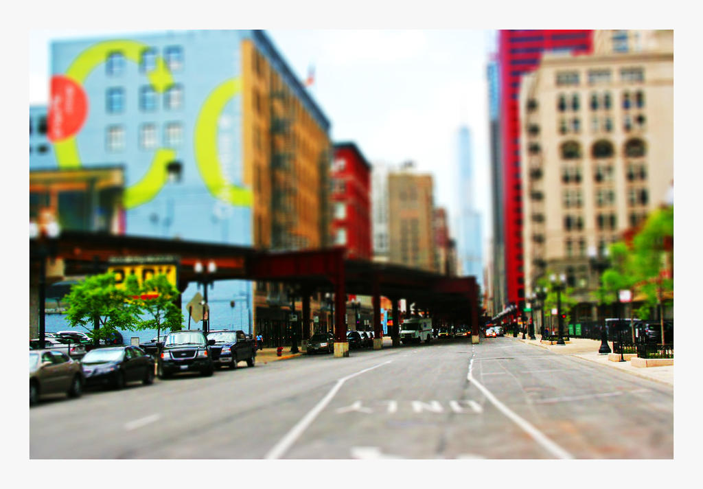 tilt shift Chicago by garbagexxx