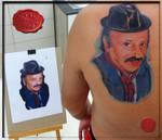 photorealistic potrait tattoo