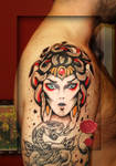 medusa traditional tattoo..