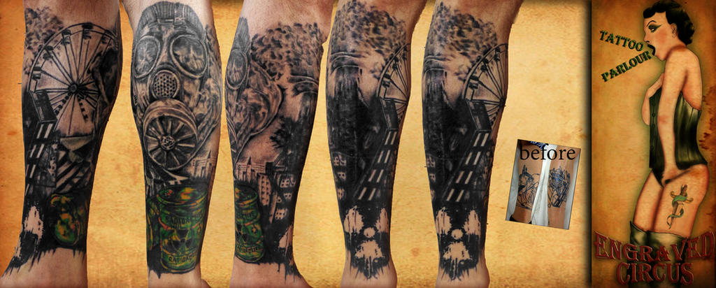 nuclear circus tattoo theme .. by loop1974