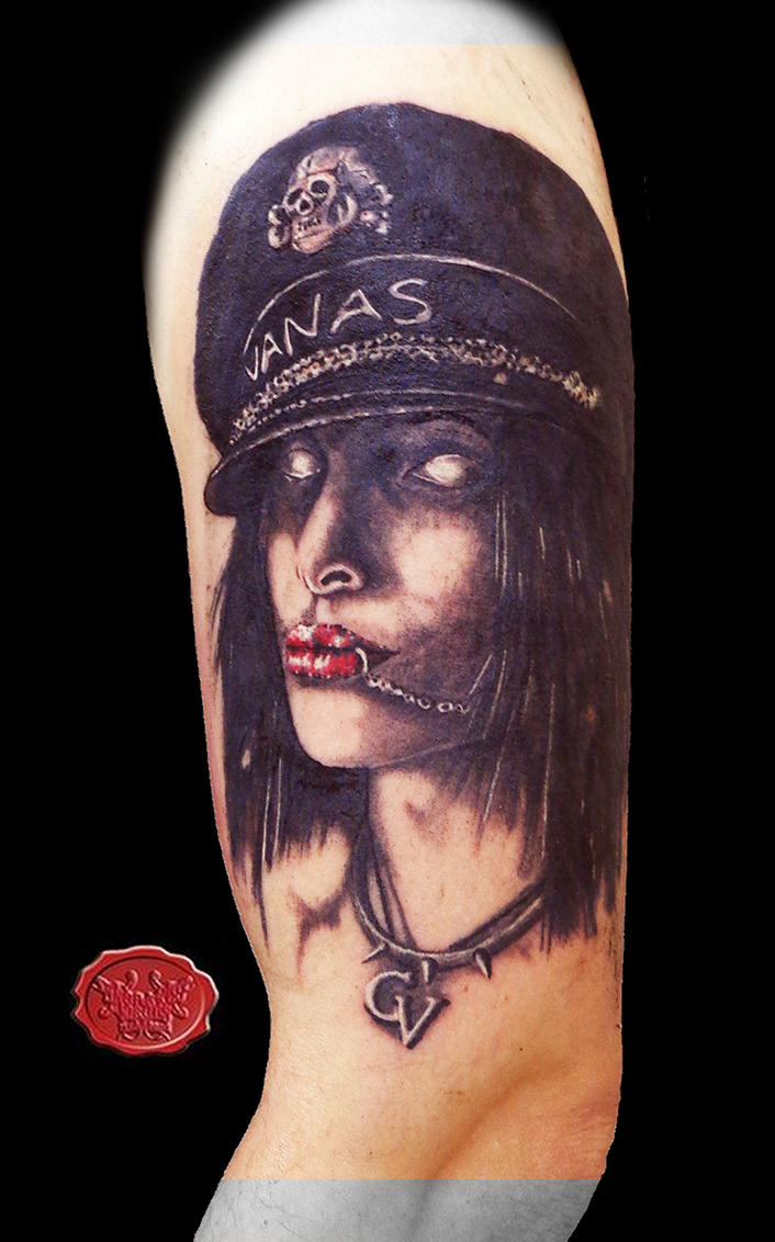 zombie army girl tattoo by loop1974