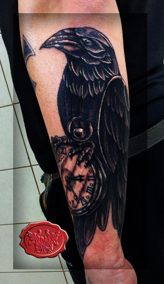raven tattoo by loop1974
