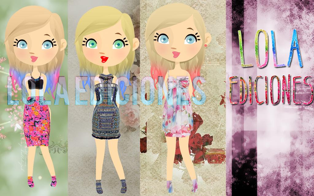 +3 Dolls En Psd y Png by LolaEdiciones