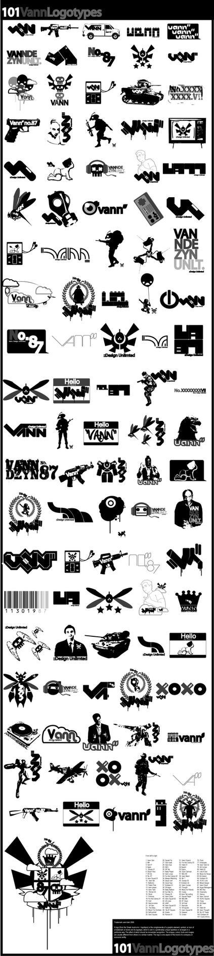 101 vann logotypes by vann-bek