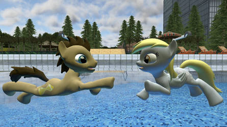 Derpy Learns To Swim by DoctorMuffins