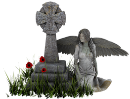 Angel Statue PNG 04 by neverFading-stock