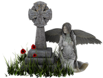 Angel Statue PNG 04