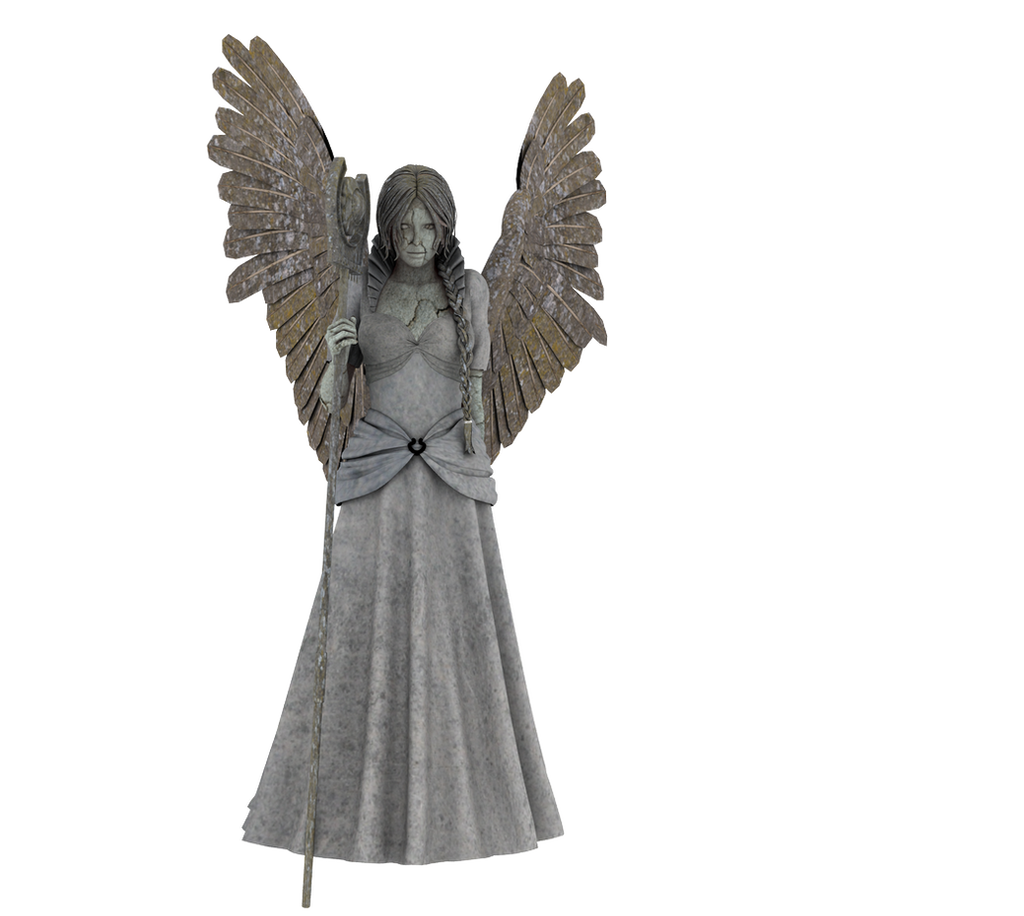 Angel Statue PNG 05 by neverFading-stock