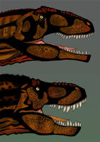 Version final de T-REX vs Giganotosaurus by Christopher252