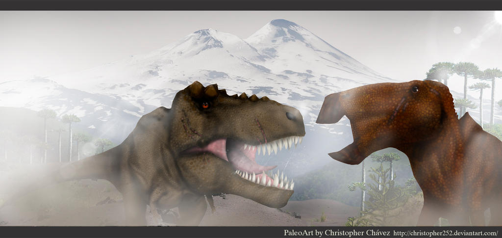 T-rex Vs Edmontosaurus by Christopher252 on DeviantArt